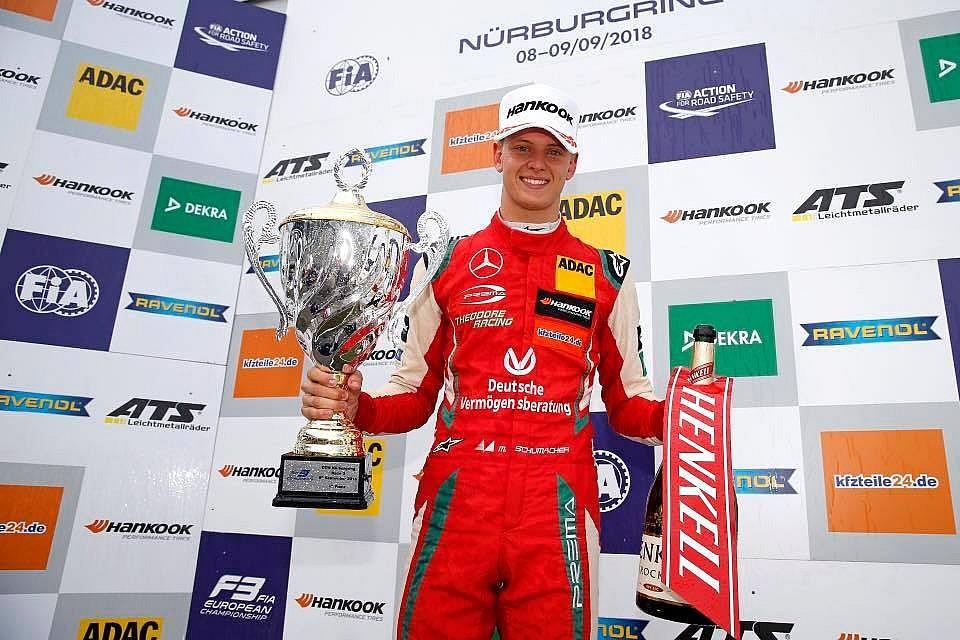 Три победы Мика Шумахера в Формула 3 на Нюрбургринге