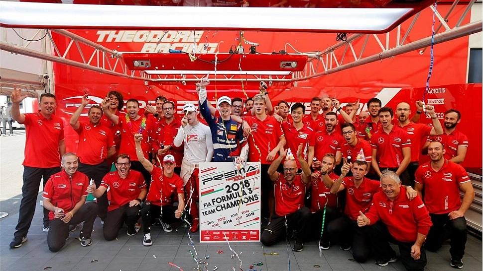 RAVENOL & PREMA Theodore Racing: поздравляем с чемпионством в Европейской Формуле-3!